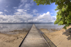 Wooden Pier, Fiji HDR Royalty Free Stock Photos