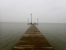 Wooden Pier on Foggy Day royalty free stock images