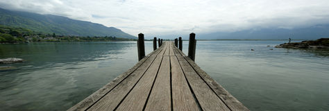 Wooden Pier For Boats And Yachts Stock Images