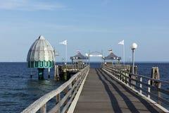 Wooden pier at Gromitz, Baltic Sea Stock Photos