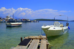 Wooden pier,Ionian islands Stock Photography