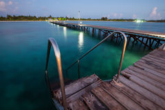Wooden pier at the island Royalty Free Stock Photo