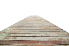 Wooden pier isolated in white Stock Image
