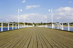 Wooden pier in Jurata, Poland Stock Photography