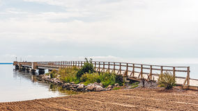 Wooden pier in Kalmar Royalty Free Stock Photography