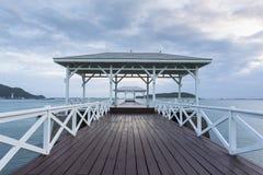 Wooden pier at Koh Si Chang. Island, Thailand Royalty Free Stock Image