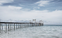 Wooden pier, Kood island, Thailand Royalty Free Stock Image
