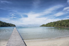 Wooden pier, Kood island, Thailand Stock Photo