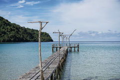 Wooden pier, Kood island, Thailand Stock Images