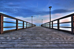 Wooden pier at Kuznica Royalty Free Stock Image