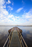 Wooden pier on lake Stock Photos