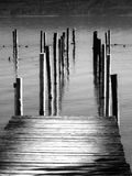 Wooden pier and lake Royalty Free Stock Photography