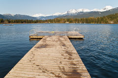 Wooden pier on the lake Royalty Free Stock Photos