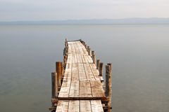 Wooden pier on lake Royalty Free Stock Image