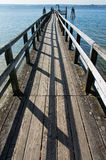 Wooden pier in a lake Royalty Free Stock Photo