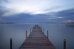 Wooden Pier, Lake Mendota, Madison, Wisconsin Stock Photography