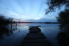 Wooden pier at the lake Royalty Free Stock Photography