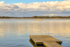 Wooden pier in the lake Stock Image