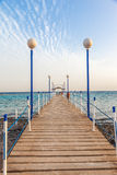 Wooden pier leading Royalty Free Stock Photography