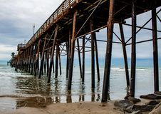 Wooden Pier In Oceanside California royalty free stock images