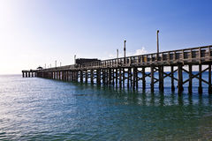 Wooden pier in Miami Beach Stock Image
