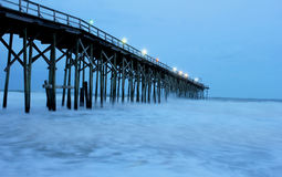 Wooden pier at night Royalty Free Stock Photography