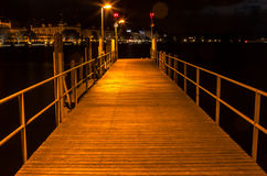 Wooden Pier On Zurich Lake Royalty Free Stock Photos