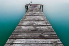 Wooden Pier Or Jetty On Lake