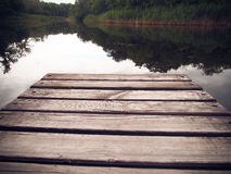 Wooden pier Royalty Free Stock Image