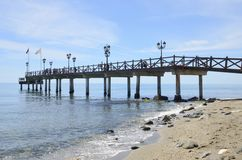 Wooden pier Stock Image