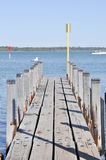 Wooden Pier Perspective Stock Photos