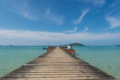 Wooden pier in Phuket, Thailand. Summer, Travel, Vacation and Ho Stock Images