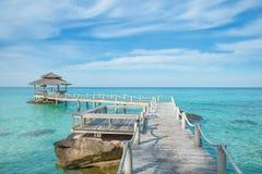 Wooden pier in Phuket, Thailand. Royalty Free Stock Photos