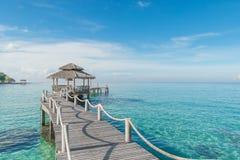 Wooden pier in Phuket, Thailand Stock Photo