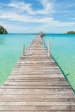 Wooden pier in Phuket, Thailand. Summer, Travel, Vacation and Holiday concept - Wooden pier in Phuket, Thailand Royalty Free Stock Images