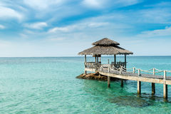 Wooden pier in Phuket, Thailand. Summer, Travel, Vacation and Holiday concept - Wooden pier in Phuket, Thailand Stock Photography
