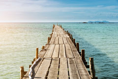 Wooden pier in Phuket, Thailand. Summer, Travel, Vacation. And Holiday concept Royalty Free Stock Images