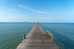 Wooden pier in Phuket, Thailand. Summer, Travel, Vacation and Ho Royalty Free Stock Images