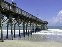 Wooden pier. Picture of a wooden sea pier Stock Photos