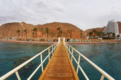 The wooden pier on Red sea Royalty Free Stock Photo