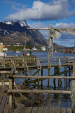 Wooden pier in Reine Royalty Free Stock Image