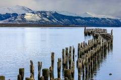 Wooden Pier Remnants Stock Photos