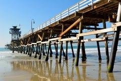 Wooden pier in San Clemente, CA. Wooden pier in San Clemente, California royalty free stock photos