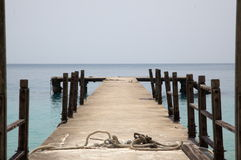 Wooden pier and sea Stock Image