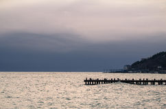 Wooden pier on sea Royalty Free Stock Images