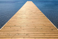 Wooden pier on sea Royalty Free Stock Photography