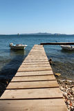 Wooden pier on the sea Royalty Free Stock Photos