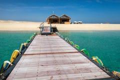 Wooden pier and sea. stock photos