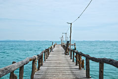 Wooden pier on the sea HDR Royalty Free Stock Images