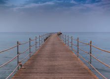 Wooden pier at sea Royalty Free Stock Photo